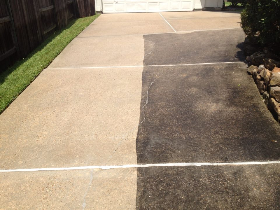 Driveway cleaning - Concrete cleaning - Raleigh NC & Garner NC